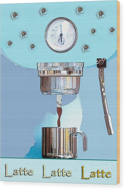 Fantasy Espresso Machine Wood Print