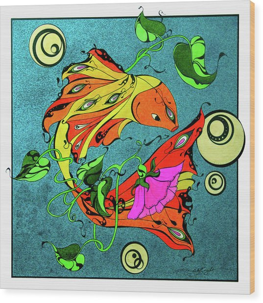 Fantasy Fish Wood Print
