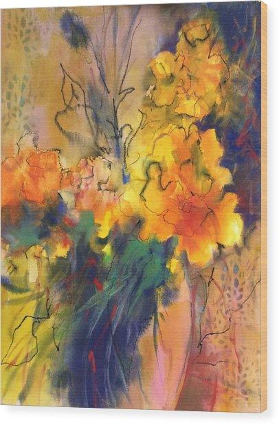 Fantasy Flowers Wood Print
