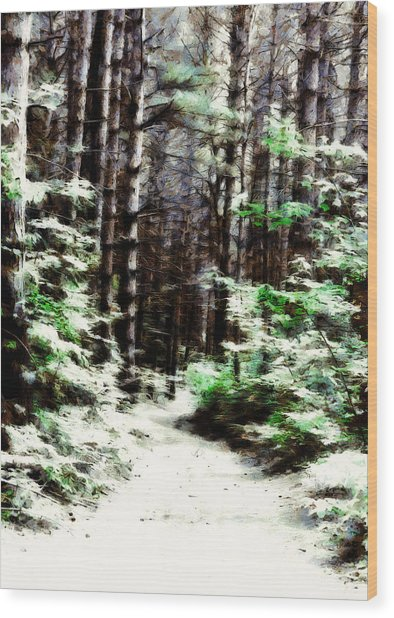Fantasy Forest Wood Print