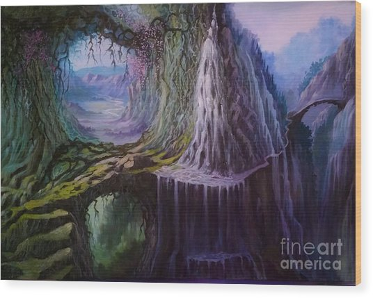 Fantasy Land Wood Print
