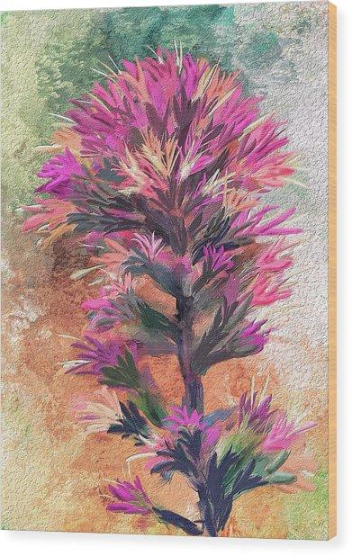 Fantasy Paintbrush Wood Print