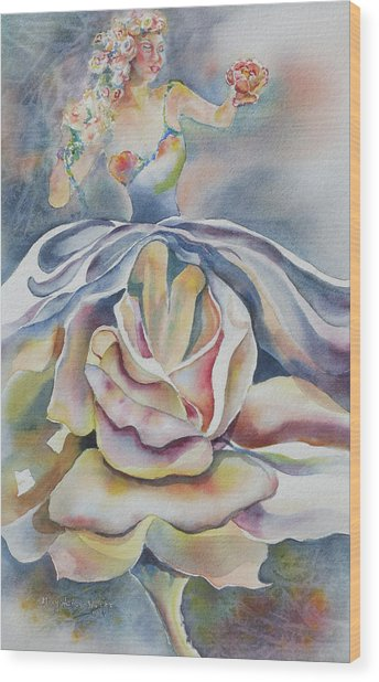 Fantasy Rose Wood Print