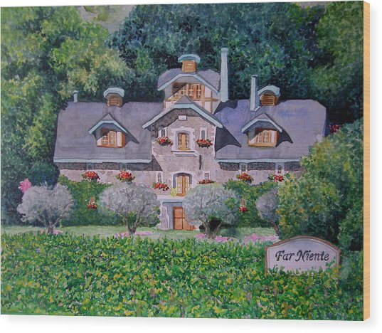 Far Niente Winery Wood Print