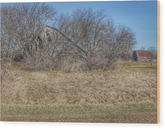 2303 - Fargo Road Forgotten Wood Print