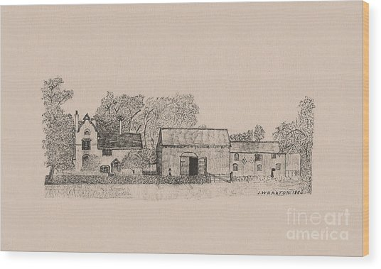 Farm Dwellings Wood Print