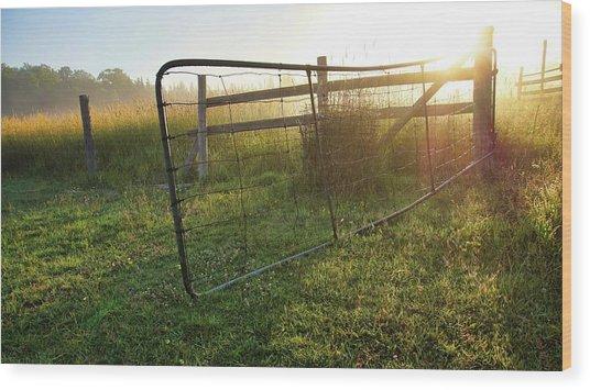 Farm Gate Wood Print