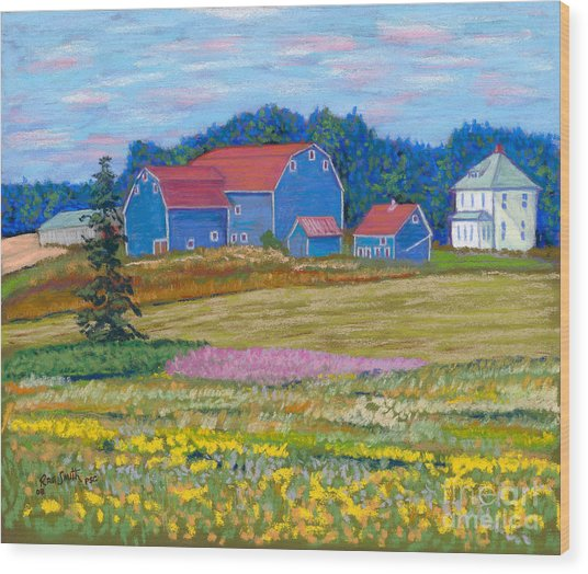Farm On Prince Edward Island Wood Print