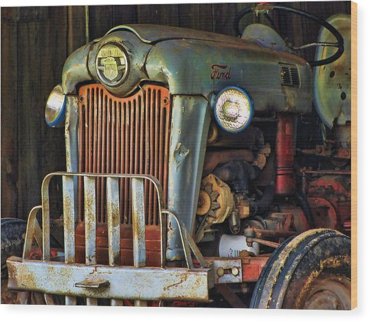 Farm Tractor Two Wood Print