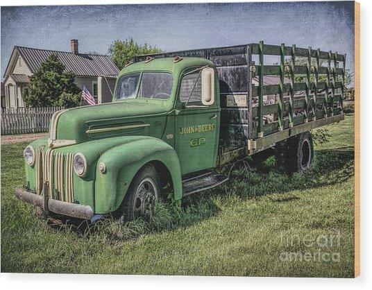 Farm Truck Wood Print