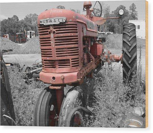 Farmall Red Wood Print