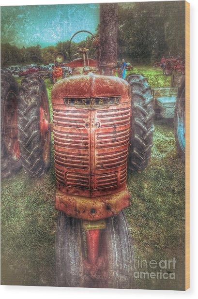 Farmall  Wood Print by Steven Digman