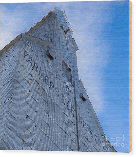 Farmers Grain Elevator, Power, Montana Wood Print