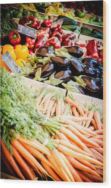 Wood Print featuring the photograph Farmer's Market by Jason Smith
