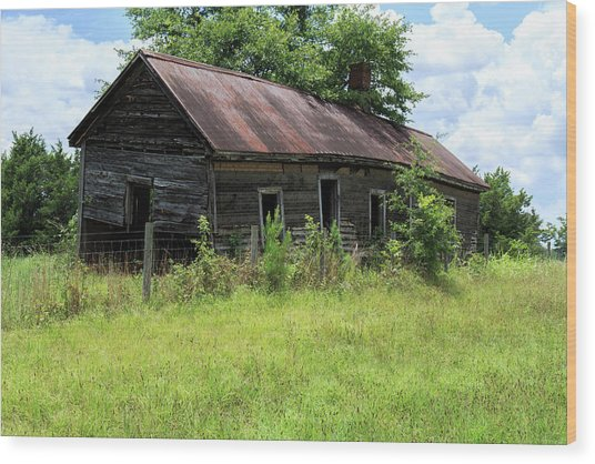 Farmhouse Abandoned Wood Print