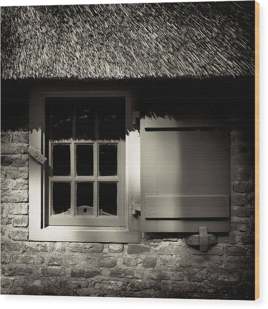 Farmhouse Window Wood Print