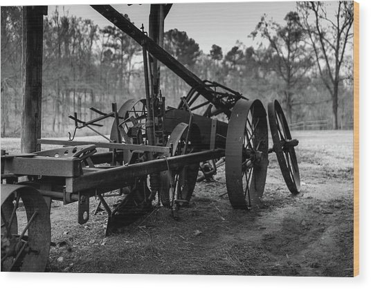 Farming Equipment Wood Print