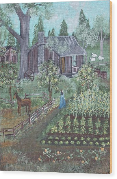 Farmstead Wood Print