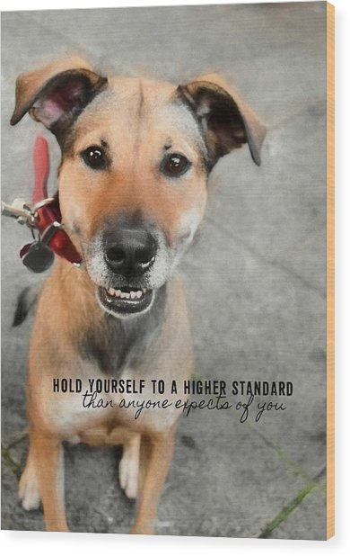 Farrahs Smile Quote Wood Print by JAMART Photography