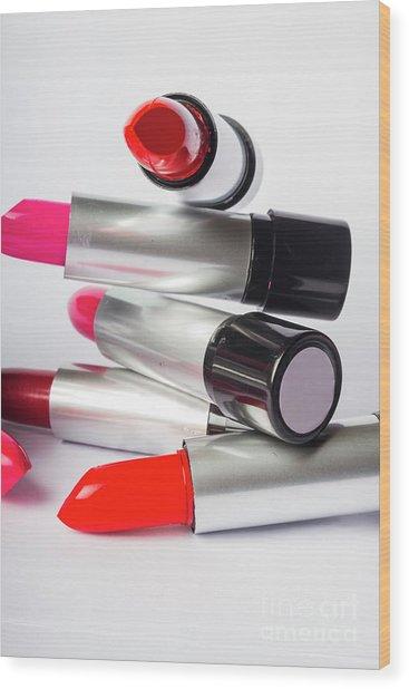 Fashion Model Lipstick Wood Print