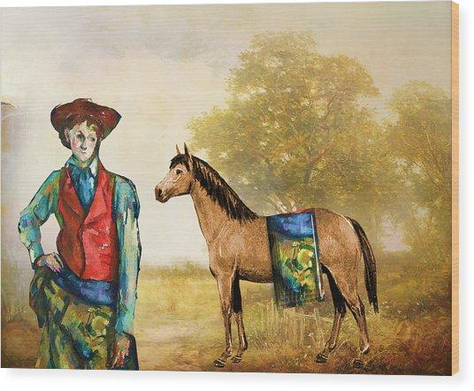 Fashionably Western Wood Print