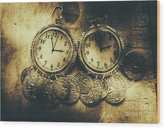 Fashioning The Time And Money Conundrum Wood Print