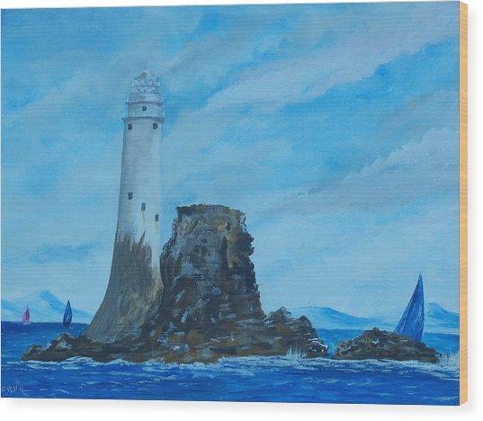 Fastnet Rock Lighthouse. Wood Print