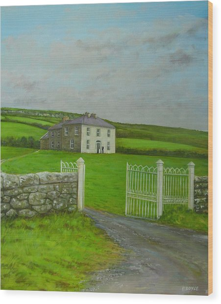 Father Ted Wood Print by Eamon Doyle