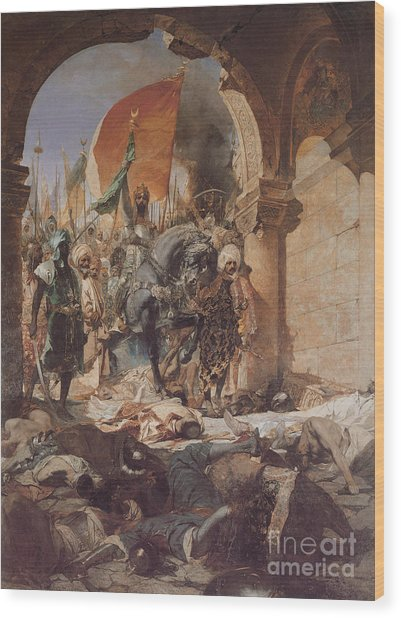 Fatih Sultan Mehmed's Entering To Istanbul Wood Print