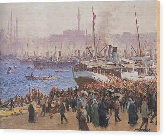 Fausto Zonaro Istanbul Wood Print