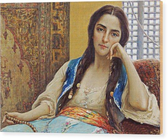Fausto Zonaro La Sultana Wood Print