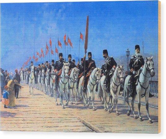 Fausto Zonaro Ottoman Wood Print
