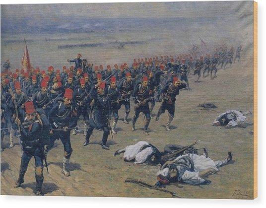 Fausto Zonaro Ottoman Soldiers At War Wood Print