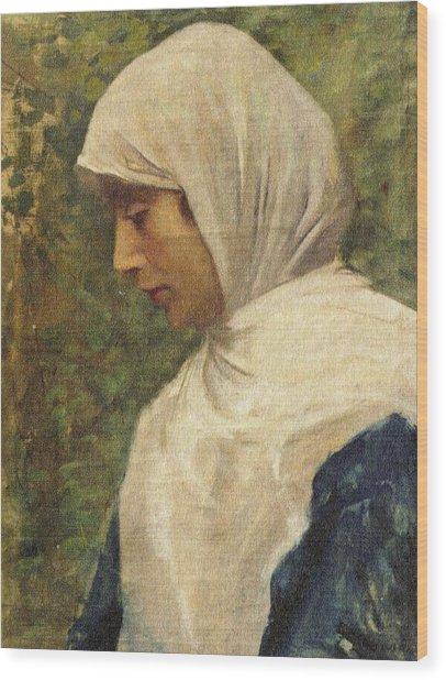 Fausto Zonaro Ottoman Woman Wood Print