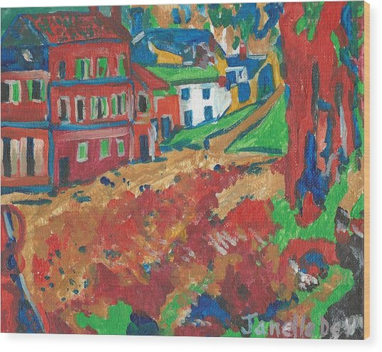 Wood Print featuring the painting Fauvism by Janelle Dey