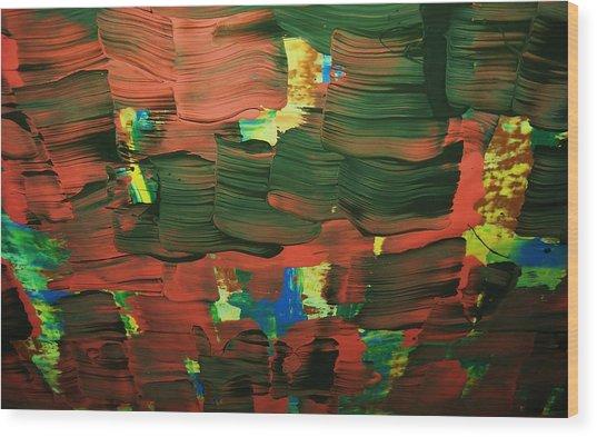 ..favella.-series.... Wood Print by Adolfo hector Penas alvarado