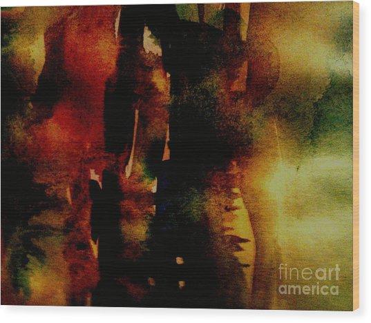 Fear On The Dark Wood Print