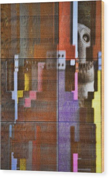 Fearful Reflections San Francisco Wood Print