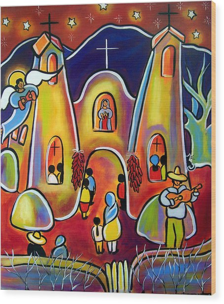 Feast Day Celebration Wood Print