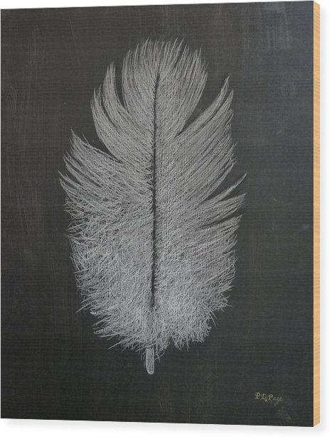 Feather 1 Wood Print