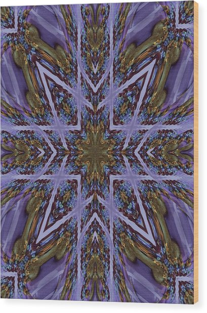 Feather Cross Wood Print by Ricky Kendall