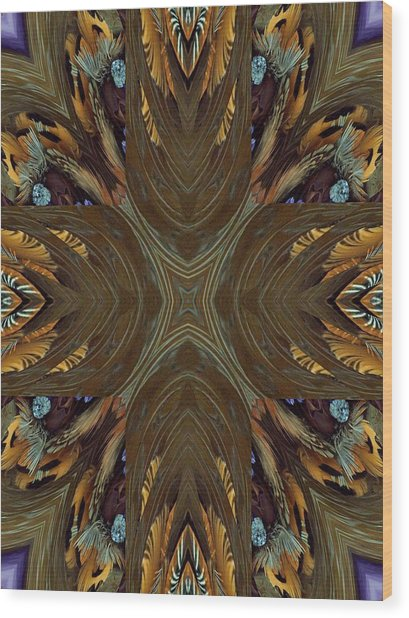 Feather Grace Wood Print by Ricky Kendall