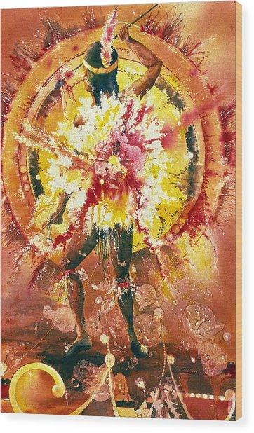 Feather Spirit Dancer Wood Print