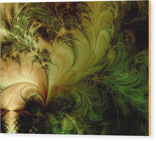 Feathery Fantasy Wood Print