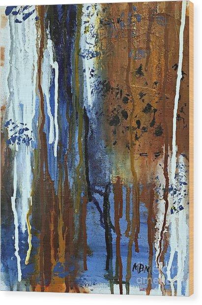 February Rain Wood Print