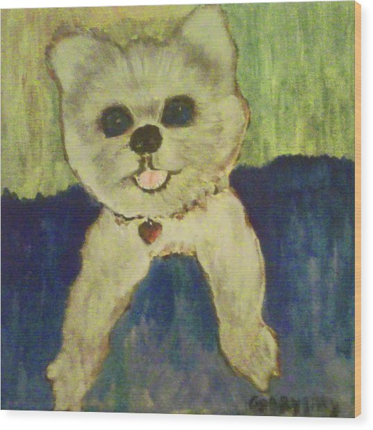 Fed Ex Doggie Wood Print