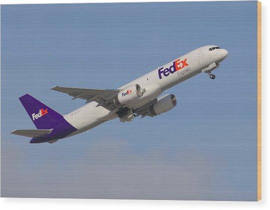 Fedex Jet Wood Print