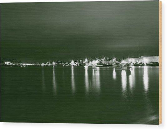 Feelin Green On The Seas Wood Print by Bradley Nichol