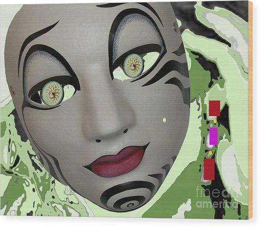Feeling Slightly Greenish Today Wood Print by Tammera Malicki-wong