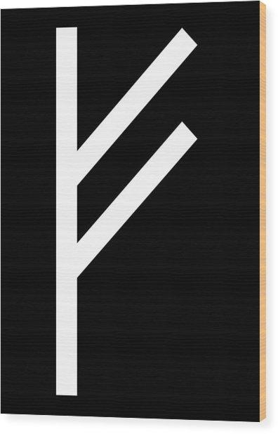 Fehu Rune Wood Print